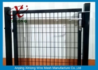 Çin Black Powders Sparyed Coating Welded Wire Fence Gate With Square Post şirket